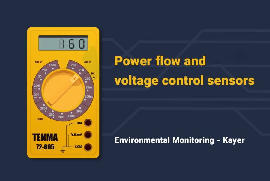 Power flow and voltage control sensors